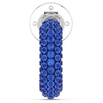 Tigris Ear Cuff, Einzel, Blau, Rhodiniert - Swarovski, 5604961