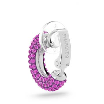 Tigris 耳骨夾, 單個, 粉紅色, 鍍白金色 - Swarovski, 5604962