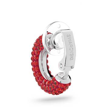 Pendientes Ear Cuff Tigris, Rojo, Baño de rodio - Swarovski, 5604963