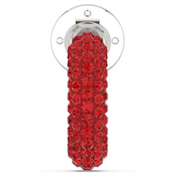 Pendiente Ear Cuff Tigris, Suelto, Rojo, Baño de rodio - Swarovski, 5604963