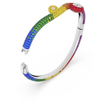 Tigris cuff armband, Meerkleurig, Rodium toplaag - Swarovski, 5605009