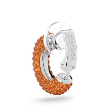 Pendiente Ear Cuff Tigris, Suelto, Naranja, Baño de rodio - Swarovski, 5605011