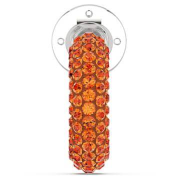 Pendientes Ear Cuff Tigris, Naranja, Baño de rodio - Swarovski, 5605011