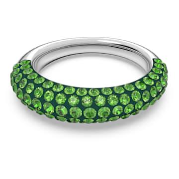 Tigris ring, Green, Rhodium plated - Swarovski, 5605012
