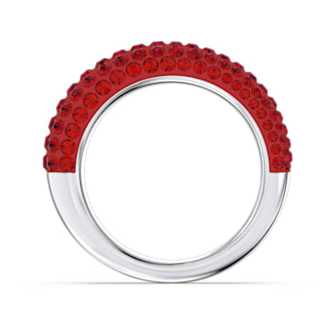 Tigris ring, Red, Rhodium plated - Swarovski, 5605013