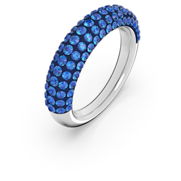 Tigris 戒指, 蓝色, 镀铑 - Swarovski, 5605017