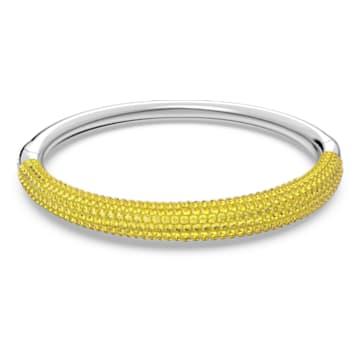 Tigris bangle, Yellow, Rhodium plated - Swarovski, 5605020