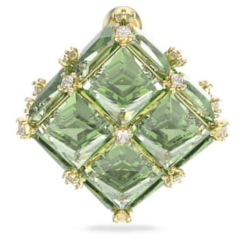 Boucle d'oreille Curiosa, Mono, Vert, Métal doré - Swarovski, 5606950