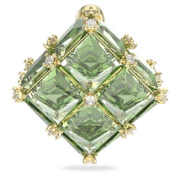 Curiosa 耳環, 單個, 綠色, 鍍金色色調 - Swarovski, 5606950