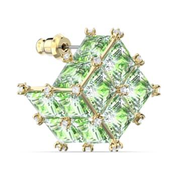 Curiosa 耳钉耳环, 单个, 绿色, 镀金色调 - Swarovski, 5606950