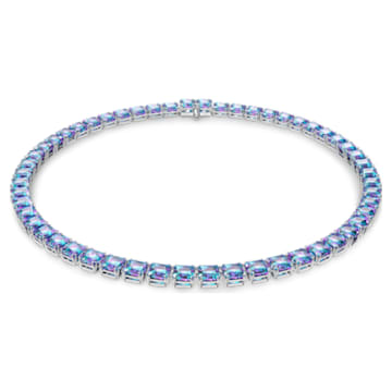 Millenia 项链, 正方形切割Swarovski皓石, 紫色, 镀铑 - Swarovski, 5608357