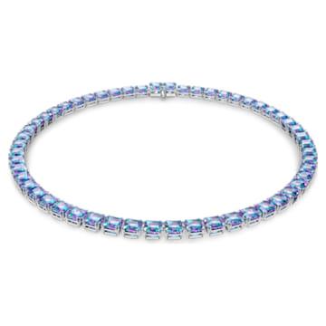 Millenia Halskette, Swarovski Zirkonia im Quadrat-Schliff, Violett, Rhodiniert - Swarovski, 5608357