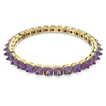 Chroma 頸鍊, 釘狀切割Swarovski 水晶, 紫色, 鍍金色色調 - Swarovski, 5608714