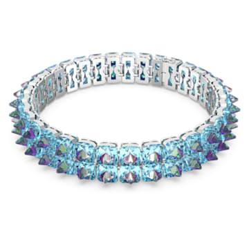 Obojkový náhrdelník Chroma, Špičaté křišťály, Modrá, Pokoveno rhodiem - Swarovski, 5608903