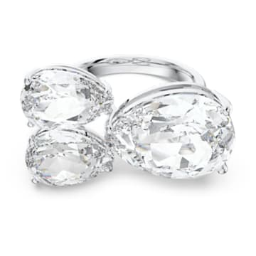 Millenia cocktail ring, Pear cut crystals, White, Rhodium plated - Swarovski, 5608999