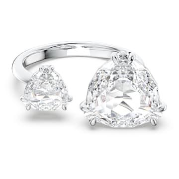 Millenia Cocktail Ring, Kristalle im Triangle Schliff, Weiss, Rhodiniert - Swarovski, 5609005