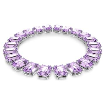 Millenia 項鏈, 八角形切割Swarovski 水晶, 紫色, 鍍白金色 - Swarovski, 5609701