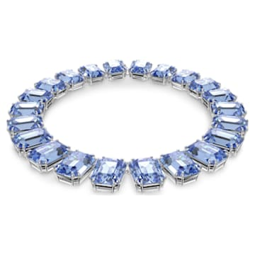 Millenia 项链, 八角形切割仿水晶, 蓝色, 镀铑 - Swarovski, 5609703