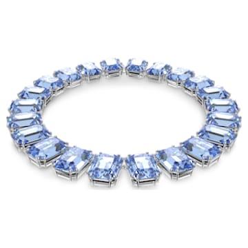 Millenia ketting, Achthoekig geslepen kristallen, Blauw, Rodium toplaag - Swarovski, 5609703