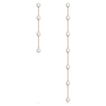 Orecchini Constella, Asimmetrico, Bianco, Placcato color oro rosa - Swarovski, 5609707