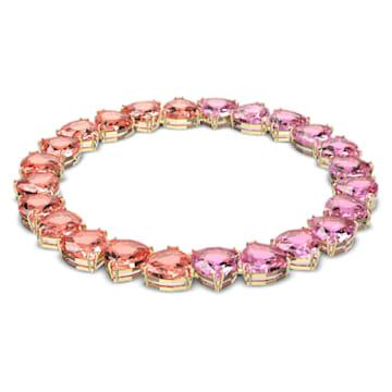 Millenia necklace, Triangle, Multicolored, Gold-tone plated - Swarovski, 5609709