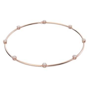 Collar Constella, Blanco, Baño tono oro rosa - Swarovski, 5609710