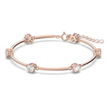 Constella 手链, 白色, 镀玫瑰金色调 - Swarovski, 5609711