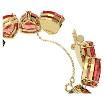 Braccialetto Millenia, Cristalli taglio Triangle, Arancione, Placcato color oro - Swarovski, 5609713