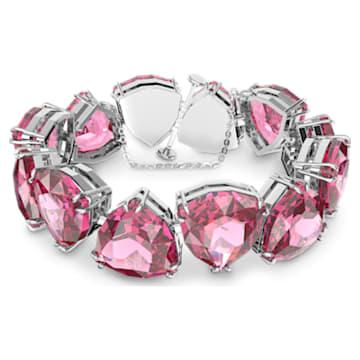 Bransoletka Millenia, Kryształ o szlifie trójkątnym Trilliant, Różowy, Powłoka z rodu - Swarovski, 5609714