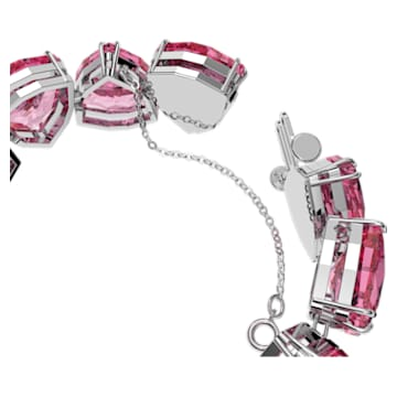 Brățară Millenia, Cristal cu tăietură triunghiulară, Roz, Placat cu rodiu - Swarovski, 5609714