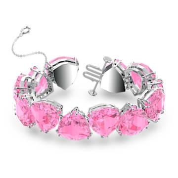 Millenia bracelet, Trilliant cut crystal, Pink, Rhodium plated - Swarovski, 5609714