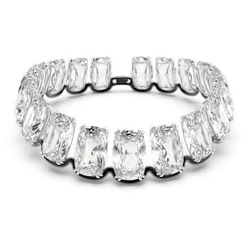 Harmonia choker, Oversized floating crystal, White, Mixed metal finish - Swarovski, 5609890