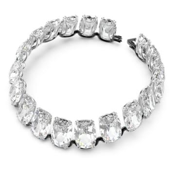 Harmonia choker, Oversized floating crystals, White, Mixed metal finish - Swarovski, 5609890