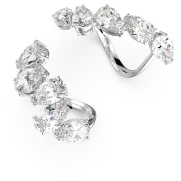 Millenia ring, Set (2), White, Rhodium plated - Swarovski, 5610402