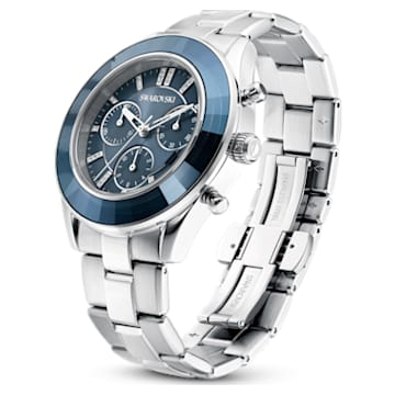 Octea Lux Sport Uhr, Metallarmband, Blau, Edelstahl - Swarovski, 5610481