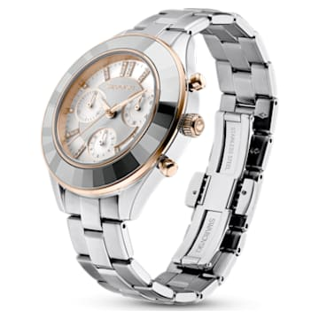 Octea Lux Sport 腕表, 金属手链, 白色, 不锈钢 - Swarovski, 5610494