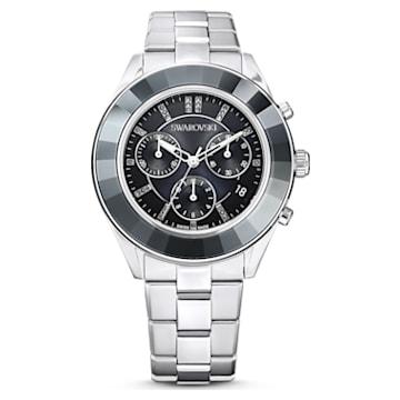 Octea Lux Sport 腕表, 金属手链, 黑色, 不锈钢 - Swarovski, 5610520
