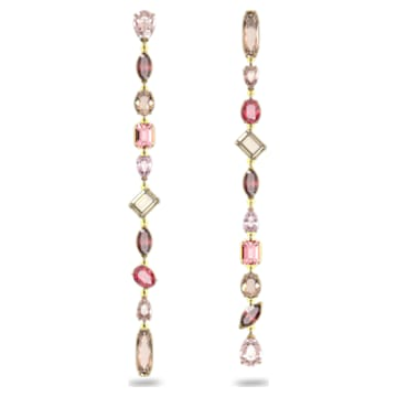 Gema Drop Earrings, Extra long, Multicoloured, Gold-tone plated - Swarovski, 5610725