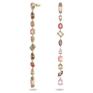 Gema Drop-Ohrhänger, Extralang, Mehrfarbig, Goldlegierungsschicht - Swarovski, 5610725