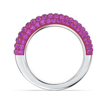 Tigris ring, Roze, Rodium toplaag - Swarovski, 5610876