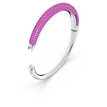 Tigris armband, Roze, Rodium toplaag - Swarovski, 5610943