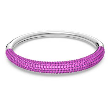 Tigris bangle, Pink, Rhodium plated - Swarovski, 5610944