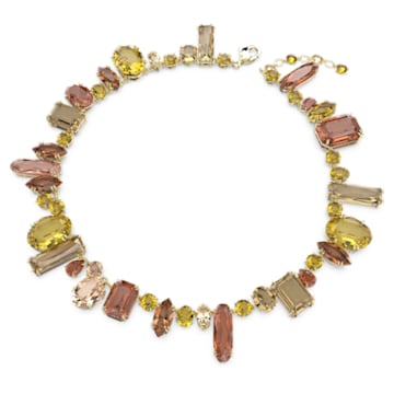Gema necklace, Multicolored, Gold-tone plated - Swarovski, 5610988