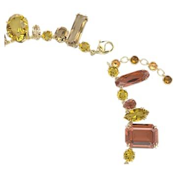 Gema necklace, Multicoloured, Gold-tone plated - Swarovski, 5610988