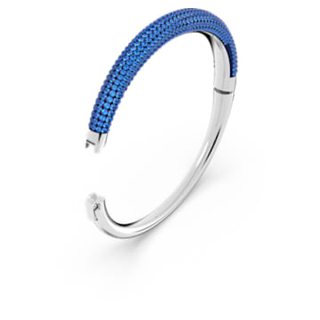 Tigris bangle, Blue, Rhodium plated - Swarovski, 5611173