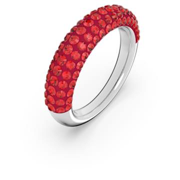 Anello Tigris, Rosso, Placcato rodio - Swarovski, 5611176