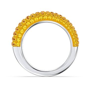 Tigris ring, Geel, Rodium toplaag - Swarovski, 5611179
