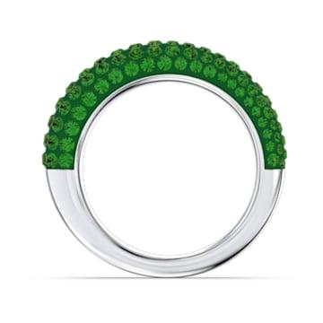 Tigris ring, Groen, Rodium toplaag - Swarovski, 5611181
