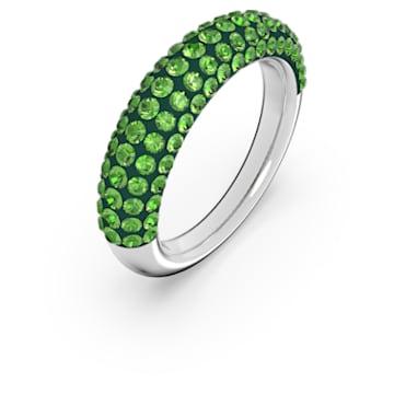 Tigris ring, Green, Rhodium plated - Swarovski, 5611182