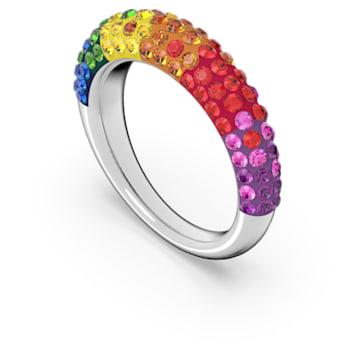 Tigris ring, Meerkleurig, Rodium toplaag - Swarovski, 5611183